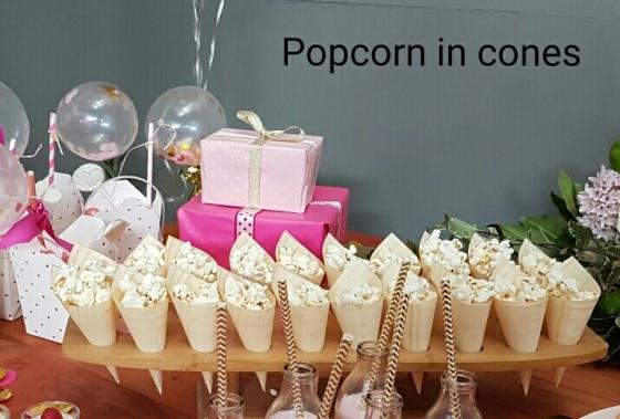 Popcorn in Cones